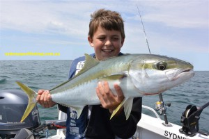 12 y/o Louis with his impressive Kingfish from Pittwater.