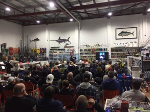 Great turn out at the Fishing Station talk. Pic courtesy of Fishing Station